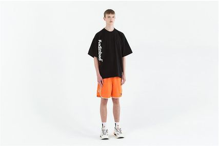 Crew Neck Street Style Cotton Short Sleeves Oversized Logo