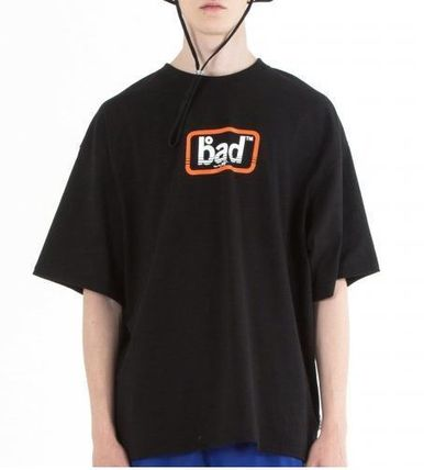 BADINBAD Crew Neck Crew Neck Street Style Cotton Short Sleeves Oversized 7