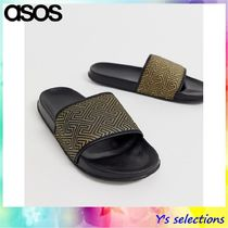 ASOS Monogram Street Style Shower Shoes Shower Sandals