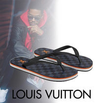 Louis Vuitton DAMIER Other Check Patterns Street Style Shower Shoes