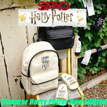 SPAO Unisex Street Style Collaboration A4 Backpacks