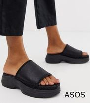 ASOS Platform Casual Style Plain Platform & Wedge Sandals