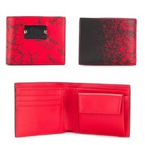 Christian Louboutin Panettone  Unisex Studded Leather Folding Wallets