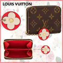 Louis Vuitton MONOGRAM Monogram Canvas Blended Fabrics Bi-color Chain Coin Purses