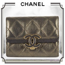CHANEL MATELASSE Calfskin Bi-color Coin Purses