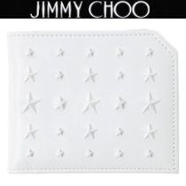 Jimmy Choo Unisex Plain Leather Folding Wallets