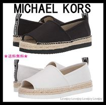 Michael Kors Open Toe Plain Oversized Slip-On Shoes