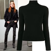 Saint Laurent Cashmere Long Sleeves Plain Turtlenecks