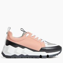 Pierre Hardy Rubber Sole Leather Low-Top Sneakers