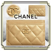 CHANEL MATELASSE Lambskin Plain Card Holders