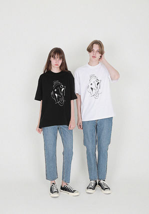 [COMPAGNO] Pierrot printing T-shirts