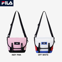 FILA Casual Style Unisex Studded Street Style Plain Shoulder Bags