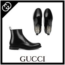 GUCCI Plain Toe Street Style Other Animal Patterns Leather