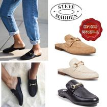 Steve Madden Round Toe Plain Leather Elegant Style Flats