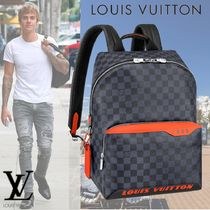Louis Vuitton DAMIER COBALT Canvas A4 Backpacks