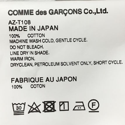 COMME des GARCONS Long Sleeve Crew Neck Long Sleeves Cotton Long Sleeve T-Shirts 10