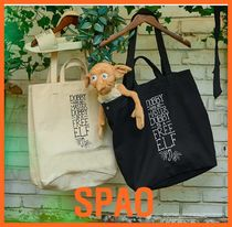 SPAO Unisex Street Style Collaboration Shoppers