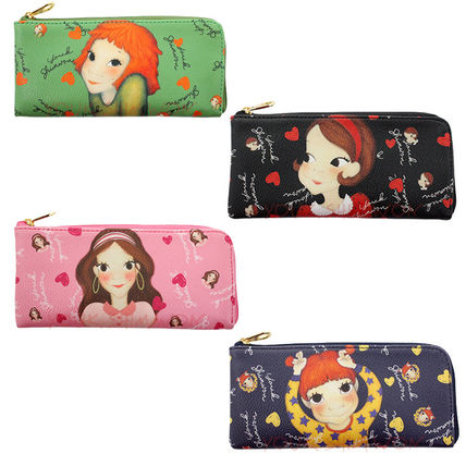 Heart Unisex PVC Clothing Logo Pouches & Cosmetic Bags