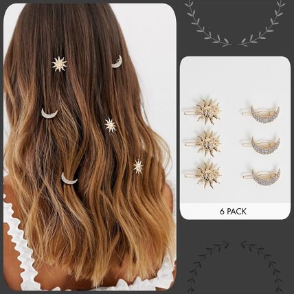 Blended Fabrics Studded Party Style Hair Accessories