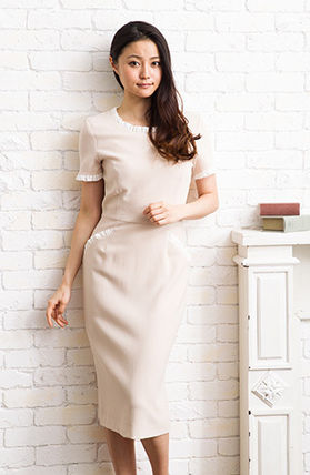 Wrap Dresses V-Neck Medium Short Sleeves Elegant Style