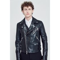 Christian Dior Street Style Plain Leather Biker Jackets