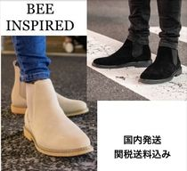 Bee Inspired Clothing Suede Plain Chelsea Boots Chelsea Boots