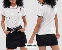 FRED PERRY Heart Casual Style Plain Cotton Short Sleeves Polo Shirts