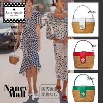 kate spade new york Leather Straw Bags