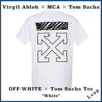 Off-White Street Style Collaboration Plain T-Shirts