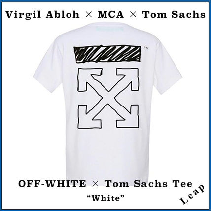 Off-White More T-Shirts Street Style Collaboration Plain T-Shirts
