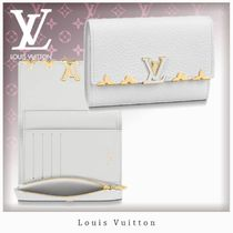 Louis Vuitton CAPUCINES Blended Fabrics Leather Folding Wallets
