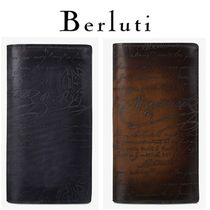 Berluti Leather Logo Long Wallets