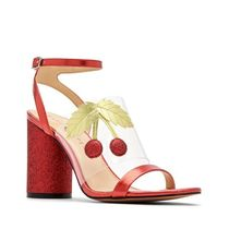 Katy Perry Tropical Patterns Open Toe Casual Style Block Heels