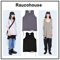Raucohouse Unisex Plain Oversized Tanks