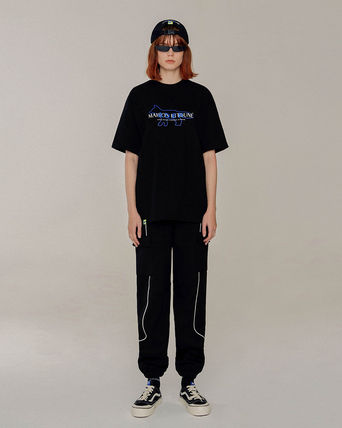 ADERERROR More T-Shirts Unisex Street Style U-Neck Collaboration Plain Cotton 3