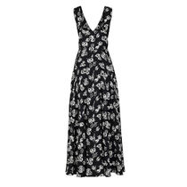 Louis Vuitton Flower Patterns Silk Sleeveless V-Neck Dresses