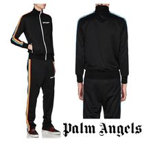 Palm Angels Stripes Unisex Street Style Track Jackets