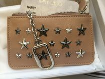 Jimmy Choo Star Unisex Studded Leather Coin Cases
