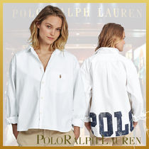 Ralph Lauren Stripes Casual Style Long Sleeves Cotton Shirts & Blouses