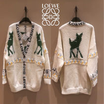 LOEWE Long Sleeves Other Animal Patterns Medium Angola Oversized