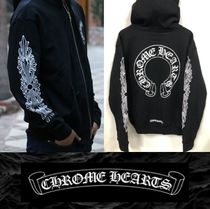CHROME HEARTS Unisex Street Style Hoodies