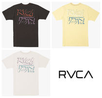 RVCA Crew Neck Pullovers Plain Cotton Short Sleeves