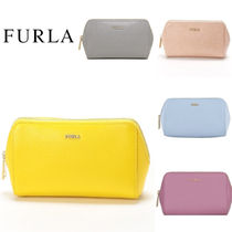 FURLA Plain Leather Pouches & Cosmetic Bags