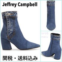 Jeffrey Campbell Casual Style Plain Block Heels Ankle & Booties Boots
