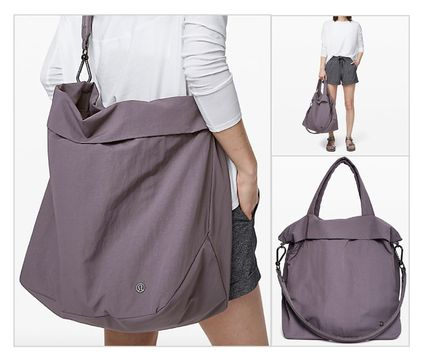 Casual Style 2WAY Plain Oversized Totes