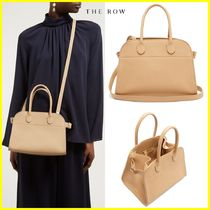 The Row 2WAY Plain Leather Elegant Style Handbags
