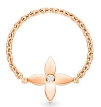 Louis Vuitton MONOGRAM IDYLLE Blended Fabrics Flower Chain 18K Gold With Jewels Rings