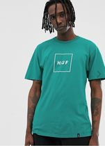 HUF Crew Neck Pullovers Street Style Long Sleeves Plain Cotton