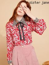 Sister Jane Flower Patterns Leopard Patterns Long Sleeves