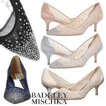 Badgley Mischka Plain Pin Heels With Jewels Elegant Style